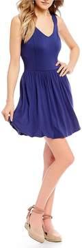 Copper Key Sleeveless Knit Swing Dress