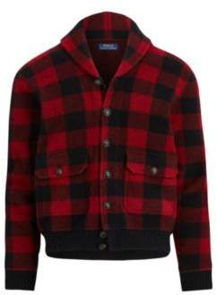 Ralph Lauren The Iconic Skeet Cardigan Red/Black Plaid Xs
