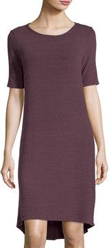 Allen Allen Half-Sleeve High-Low Jersey Dress
