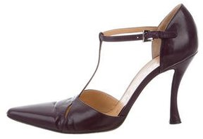 Walter Steiger Pointed-Toe T-Strap Pumps
