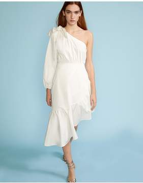 Cynthia Rowley | Aleeza One Sleeve Dress | Xl | White