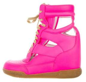 Marc by Marc Jacobs Neon Cutout High-Top Sneakers