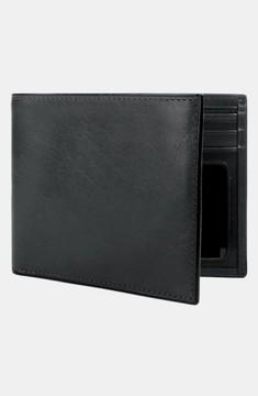 Bosca Men's Leather Bifold Wallet - Black