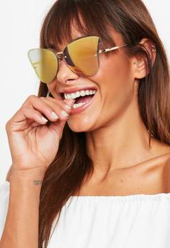 Missguided Yellow Extreme Cat Eye Sunglasses