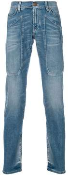Jeckerson patch detail straight leg jeans