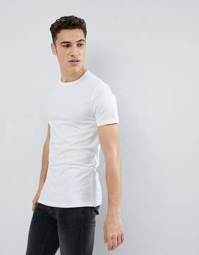 French Connection Long Line Side Zip T-Shirt