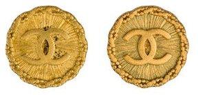 Chanel CC Medallion Earrings