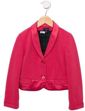 Paul Smith Girls' Satin-Trimmed Shawl-Lapel Blazer