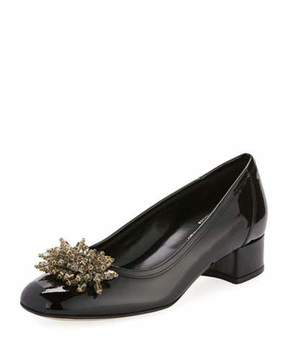 Sesto Meucci Henda Ornament Patent Pump, Black
