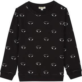 Kenzo All-over eye print cotton sweatshirt 4-16 years