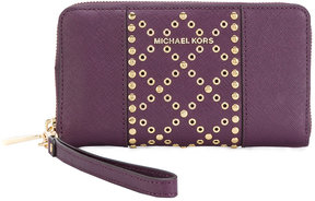 MICHAEL Michael Kors Jet Set studded continental wallet - PINK & PURPLE - STYLE