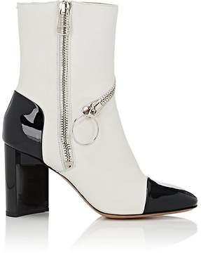Maison Margiela Women's Asymmetric-Heel Leather Ankle Boots