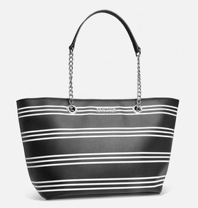 Avenue Striped Chain Link Tote