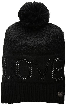 Betsey Johnson Love Beanie Beanies