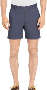 Izod Saltwater Stretch 7 Inch Flat Front Chino Shorts