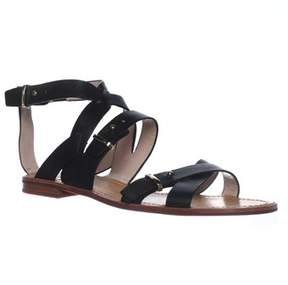 French Connection Harmoney Ankle-strap Gladiator Sandals, Black.