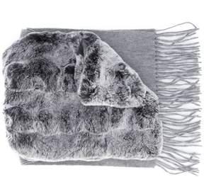 N.Peal rabbit fur scarf