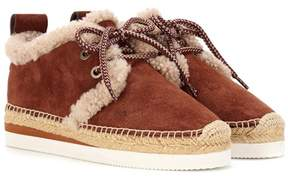 See by Chloe Suede lace-up espadrilles