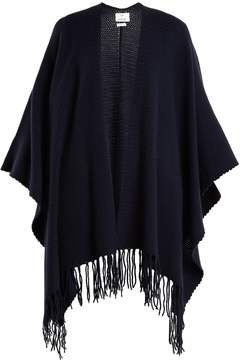 Allude Fringed wool-blend wrap