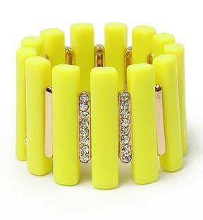 Amrita Singh Yellow Austrian Crystal Noho Stretch Bracelet
