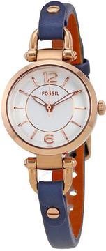 Fossil Georgia Mini White Dial Ladies Casual Watch