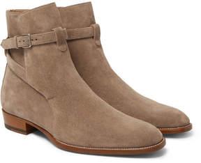 Saint Laurent Suede Jodhpur Boots