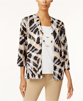 Alfred Dunner Layered-Look Removable Necklace Top