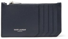 Saint Laurent Pebble-Grain Leather Zipped Cardholder