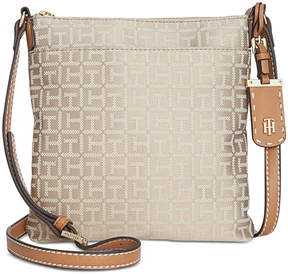 Tommy Hilfiger Julia Monogram Jacquard North South Crossbody