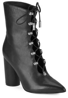 Sigerson Morrison Knight Lace-Up Leather Boots