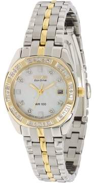 Citizen EW1594-55D Eco Drive Two-Tone Watch Analog Watches