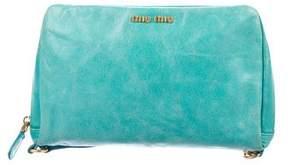 Miu Miu Leather Zip Clutch
