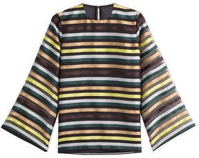 Emilia Wickstead Striped Top with Silk