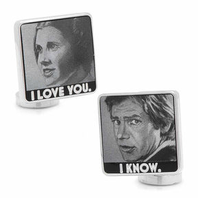 Asstd National Brand Star Wars I Love You I Know Cuff Links