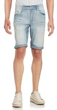 Buffalo David Bitton Faded Denim Shorts