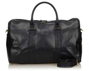 Versace Pre-owned: Leather 2 Way Boston Bag.