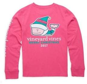 Vineyard Vines Toddler's, Little Girl's& Girl's Christmas Elf Whale Cotton Tee