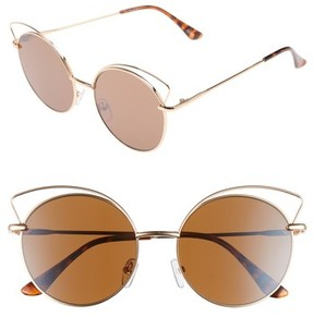 Sam Edelman Women's Satellite 55Mm Round Sunglasses - Gold