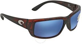 Costa del Mar Fantail Blue Mirror Rectangular Sunglasses TF 10 OBMP