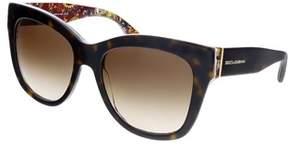 Dolce & Gabbana Dg4270 303713 Havana Cateye Sunglasses.
