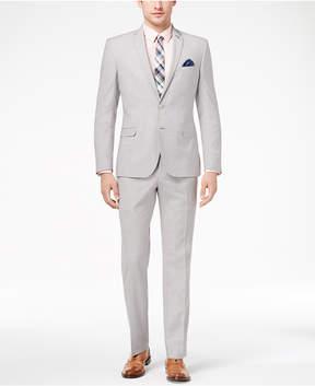 Nick Graham Men's Slim-Fit Stretch Light Gray Solid Suit