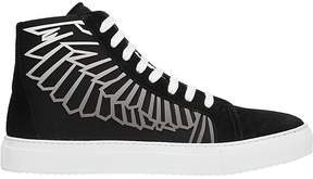 Marcelo Burlon County of Milan Wings Coralie Black Suede Sneakers
