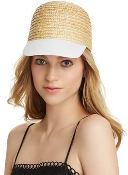 Aqua Cotton Brim Straw Cap - 100% Exclusive