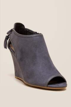 Laundry by Shelli Segal Cl By CL by Brinley Tassel Wedge Bootie - Gray