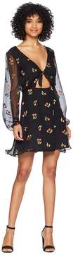 For Love & Lemons Cherry Twist Mini Dress Women's Dress