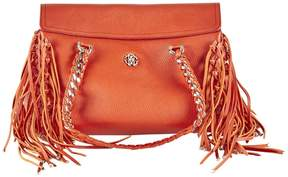 Roberto Cavalli Orange Leather Handbag