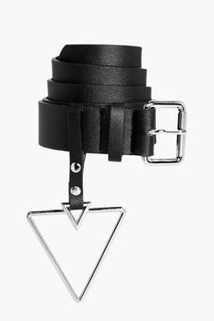 boohoo Holly Triangle Buckle Detail Belt
