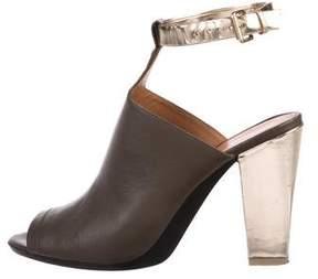 3.1 Phillip Lim Leather Peep-Toe Booties