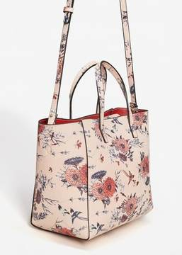 MANGO Printed saffiano-effect bag