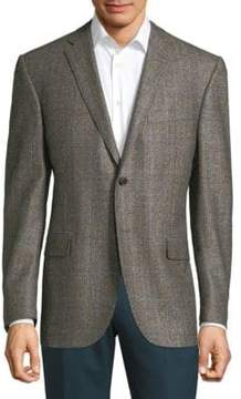 Corneliani Plaid Wool Jacket